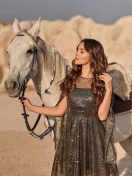 Платья - Платье с ярким глиттерным декором, 0