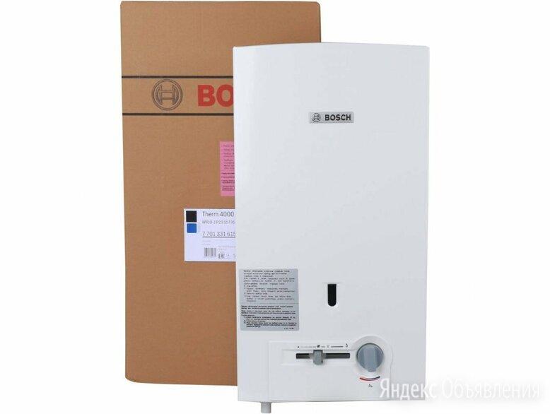 Водонагреватель проточный газовый BOSCH WR10-2 P23 (полуавтомат, пьезорозжиг) по цене 14500₽ - Водонагреватели, фото 0