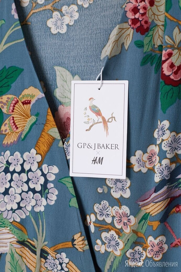 Платье H&M цветочный принт GP&JBaker летнее ткань вискоза-креп по цене 1600₽ - Платья, фото 0