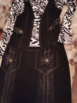 Костюмы - Комплект ИндигоЛюкс 52 блуза+юбка, 0