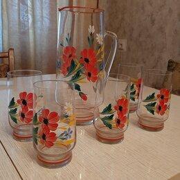 Кувшины и графины - Набор - Кувшин и 5 стаканов импортный советских…, 0