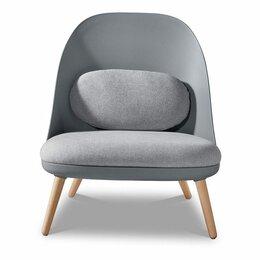 Кресла - Кресло мягкое с деревянными ножками серое ESF, 0