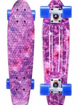Скейтборды и лонгборды - Мини-круизер PLAYSHION Flash(розовый), 0