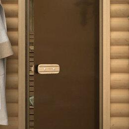 Двери - Дверь для бани со термостеклом Бронза матовая, 0
