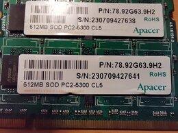 Модули памяти - Оперативная память Apacer 512 Мб SOD PC-5300 DDR2, 0