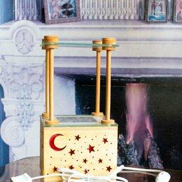 Настольные лампы и светильники - Настольный светильник со  стеклянной полкой, 0