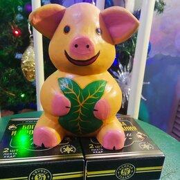 Сувениры - свинка деревянная хрюша порося, 0