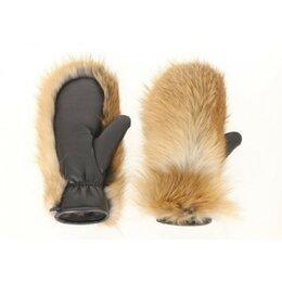 Перчатки и варежки - Рукавицы женские кожано-меховые, лиса, овчина,…, 0