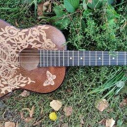Акустические и классические гитары - Классическая гитара с гравировкой, 0