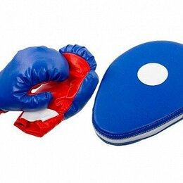 Боксерские перчатки - Набор для бокса - Двойной удар (лапа, перчатки), 0