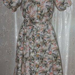 Платья - Красивое новое платье на пуговицах рр 44-46-48 с поясом., 0