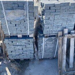 Тротуарная плитка, бордюр - Брусчатка габбро пироксенит 100*200*50, 0