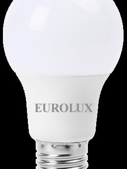 Лампочки - Лампа св/д Eurolux 9Вт,нейтр.,Е27 груша, 0