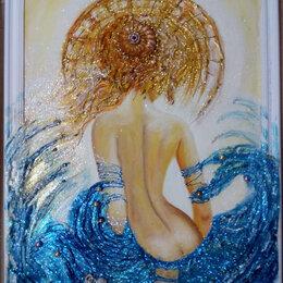 Картины, постеры, гобелены, панно - Картина с девушкой Тайна обольщения (девушка  (Дама) интерьерная живопись акрил), 0