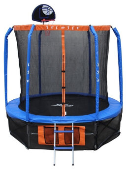 Надувные комплексы и батуты - Батут 8' с сеткой, лесенкой и баскетбольным…, 0