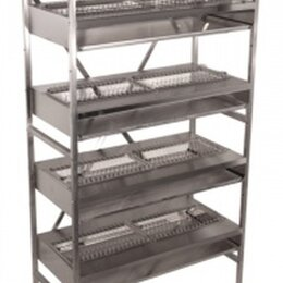 Мебель для учреждений - Стеллаж кухонный с сушкой для посуды СМС-10/4Н, 0