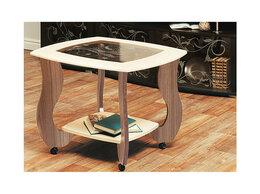Столы и столики - Журнальный столик Сатурн - М01 со стеклом и…, 0