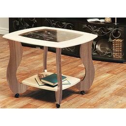 Столы и столики - Журнальный столик Сатурн - М01 со стеклом и рисунком, 0