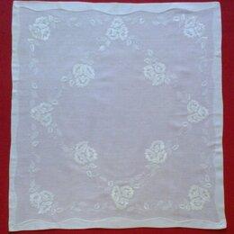 Скатерти и салфетки - СКАТЕРТЬ САЛФЕТКА белого полотна с ручной вышивкой гладью, 0