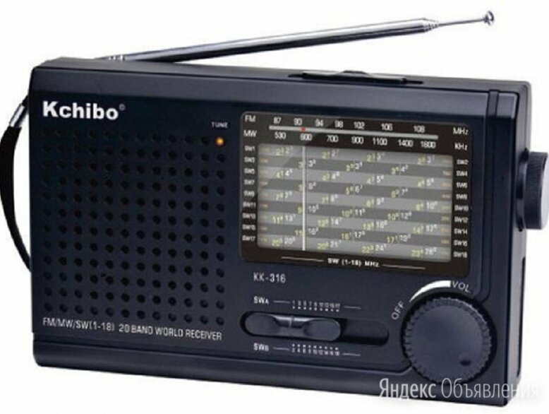 Kchibo KK-316   по цене 1070₽ - Радиоприемники, фото 0