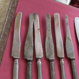 Посуда - ножи столовые ретро старинные , 0