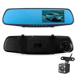 Видеорегистраторы - Видеорегистратор-зеркало Vehicle с двумя камерами, 0