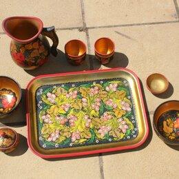 Посуда - набор посуды расписной.СССР, 0