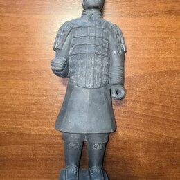 Интерьер - Статуэтка фигурка коллекционная Самурай Япония глина., 0