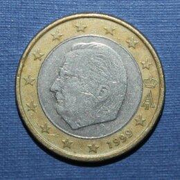 Монеты - 1 евро Бельгия 1999, биметалл, 0