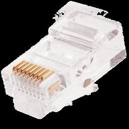 Кабели и разъемы - Коннектор под витую пару NIKOMAX RJ45/8P8C, 0