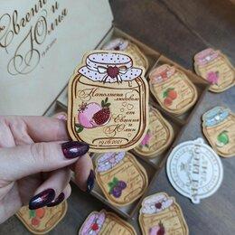 Украшения и бутафория - Свадебные магниты баночки с фруктами из дерева для гостей, 0