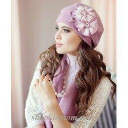 Головные уборы - Комплект женский: берет и шарф, 0
