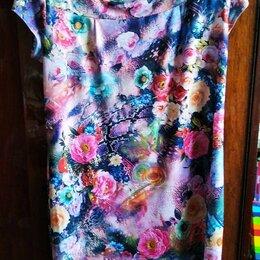 Платья - Платье летнее бу размер 56, 0