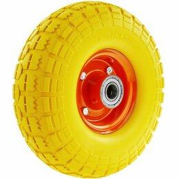 Обода и велосипедные колёса в сборе - Колесо PU 1805 (20) пенополиуретановое д. 260 без крепления, мет. обод (20 мм), 0