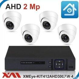 Камеры видеонаблюдения - Комплект видеонаблюдения на 4 камеры 1080Р, 0