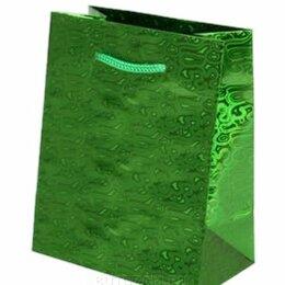 Подарочная упаковка - Пакет подарочный Голография-2 26х32 см, зеленый, 0