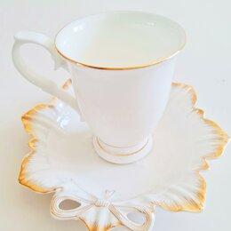 Кружки, блюдца и пары - Чайная пара новая, 0
