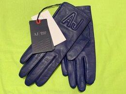 Перчатки и варежки - Перчатки Armani Jeans натуральная кожа Армани, 0