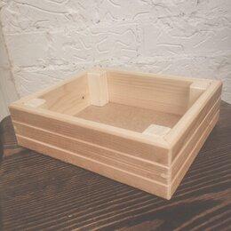 Корзины, коробки и контейнеры - Коробка подарочная из массива дерева, 0