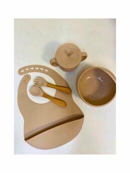 Столовые приборы - Новый набор силиконовой посуды 5шт. (коричневый), 0