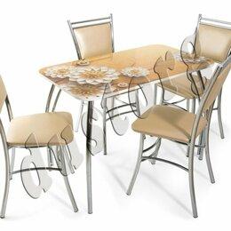 Столы и столики - Стол Лилия с фотопечатью со стульями или без них бесплатно доставка , 0