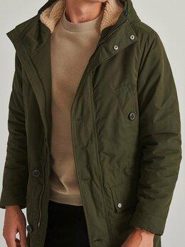 Куртки - Парка на искусственном меху Шерпа с капюшоном, 0