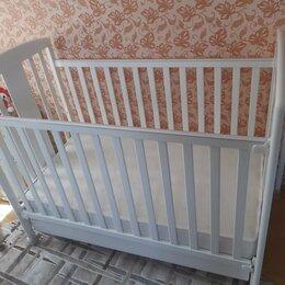 Кроватки - Кроватка детская (дерево) с матрасом (новый), 0