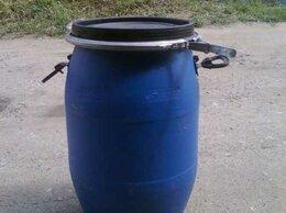 Бочки - Бочка пластиковая 80 литров с крышкой и хомутом, 0