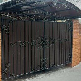 Заборы, ворота и элементы - Ворота калитки с элементами ковки, 0