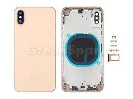 Корпусные детали - Корпус для iPhone XS (золото) AAA, 0