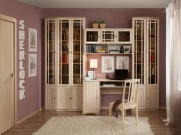 Шкафы, стенки, гарнитуры - Библиотека Sherlock (Шерлок) Сонома. Компоновка 1, 0