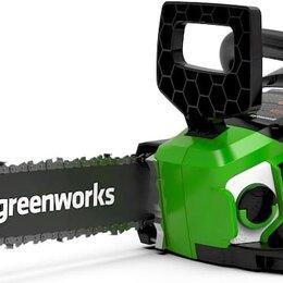 Электро- и бензопилы цепные - Цепная пила аккумуляторная GreenWorks  GD40CS15, 40V, 35 см, бесщеточная, без..., 0