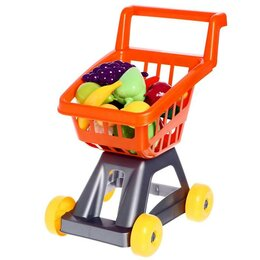 Торговля - Тележка для супермаркета с фруктами и овощами, цвета МИКС, 0