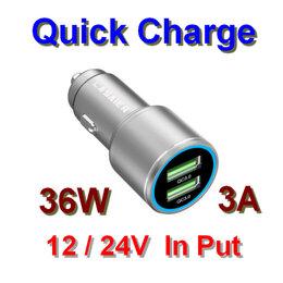 Зарядные устройства и адаптеры - Быстрая USB зарядка от прикуривателя, 0